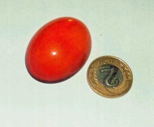 kaboszon bursztyn owal 30 x 40 mm - 1 szt (m134)
