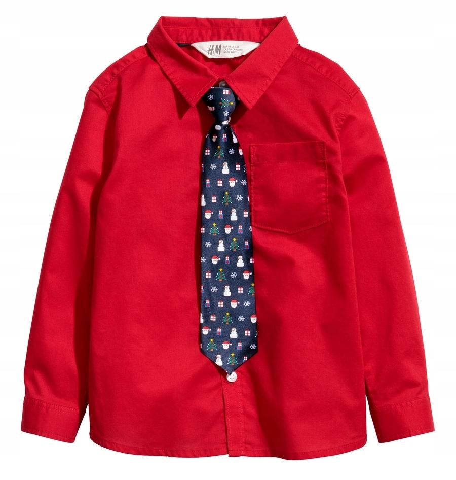 H&M koszula z krawatem świątecznym 122/128