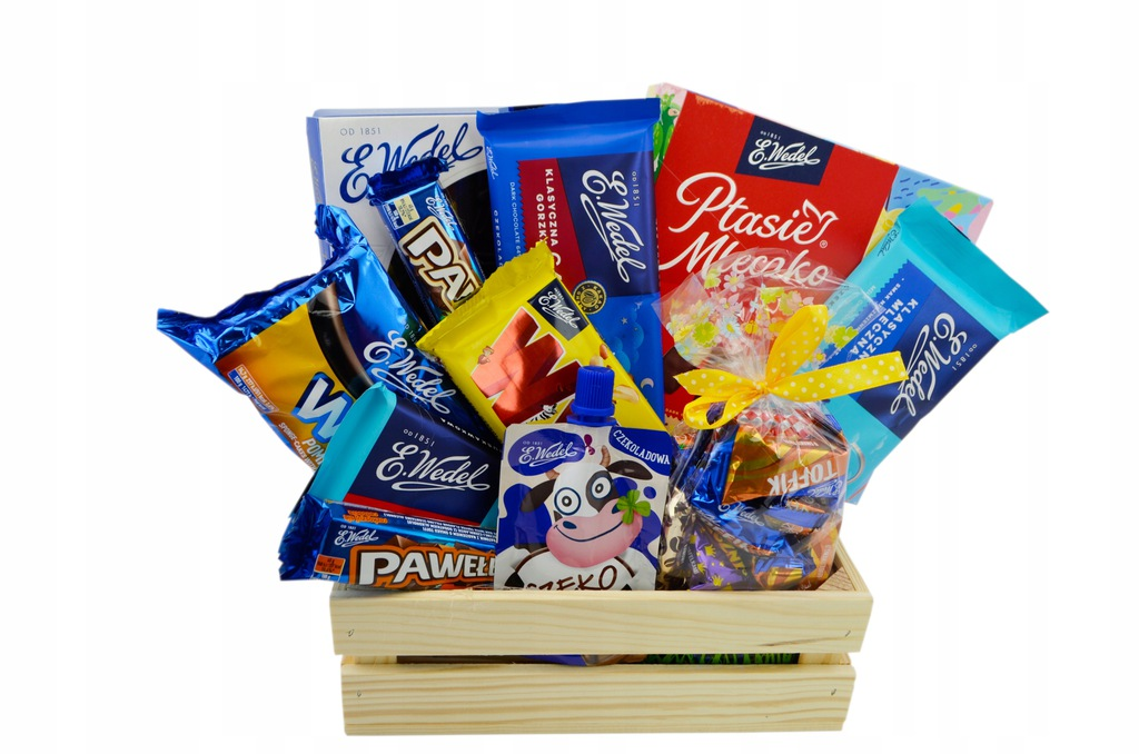 Zestaw Słodyczy Wedel Kosz Prezent na Urodziny