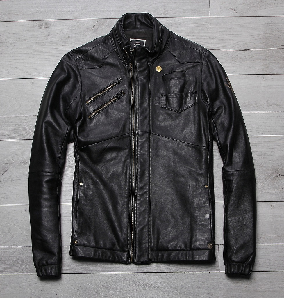G-STAR RAW TAILOREA DEAN RYDER LEATHER JACKET r S