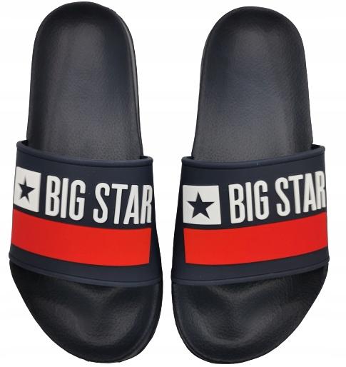 Klapki męskie BIG STAR GG174937 granatowe 44
