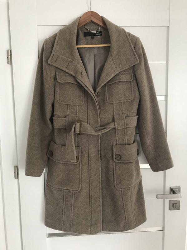 Next wełniany WOOL płaszcz wełna 38 40