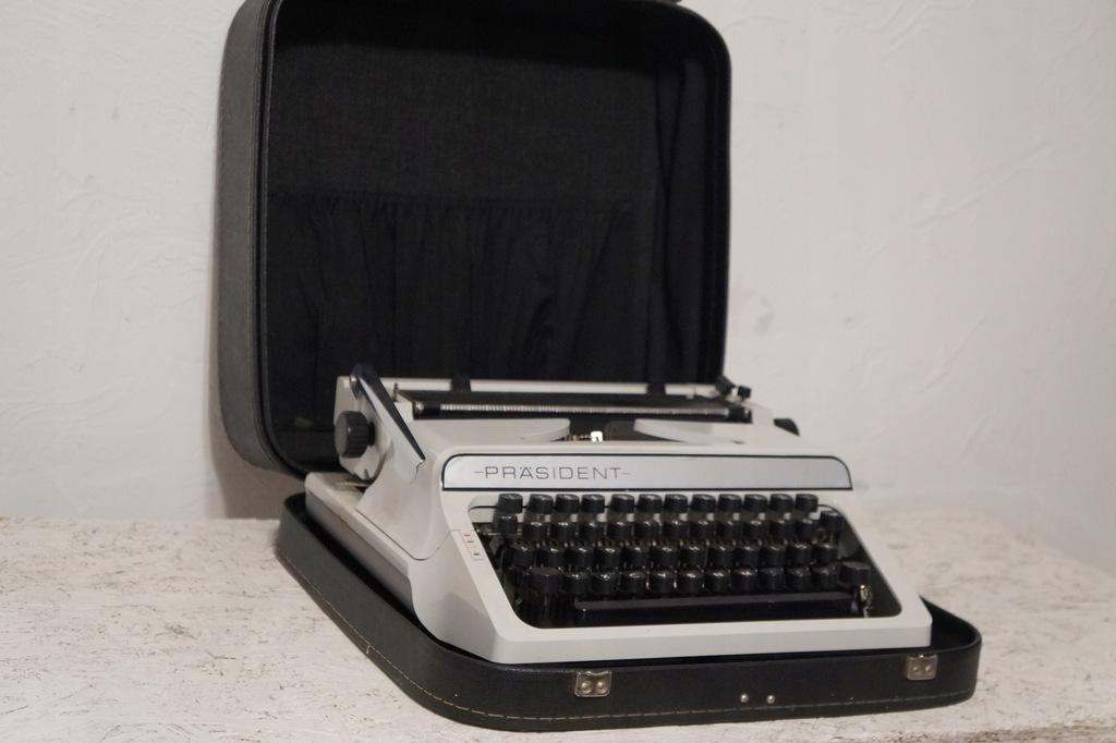 Maszyna Do Pisania Prasident Retro Vintage