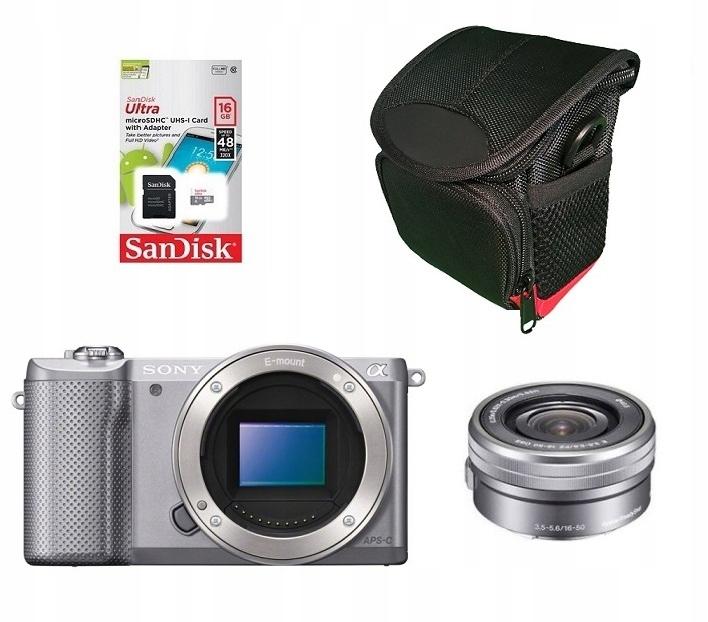 aparat SONY ILCE Alfa 5000 +16-50mm+16gb+torba