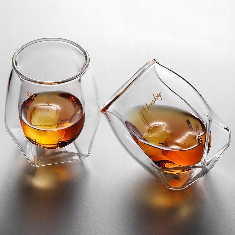Kryształowy diament szklanki do whisky zestaw z