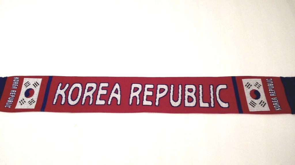 SZAL KIBICA DZIANY- KOREA REPUBLIK - DWUSTRONNY.