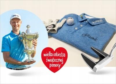 Akcesoria golfowe z autografem Adriana Meronka
