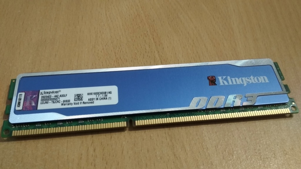 4GB Kingston HyperX Blu DDR3 1600MHz CL9 XMP 1.7V