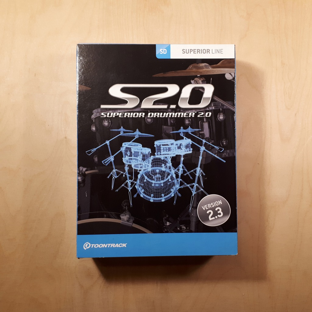 Toontrack Superior Drummer 2.0 - Version 2.3 - BOX