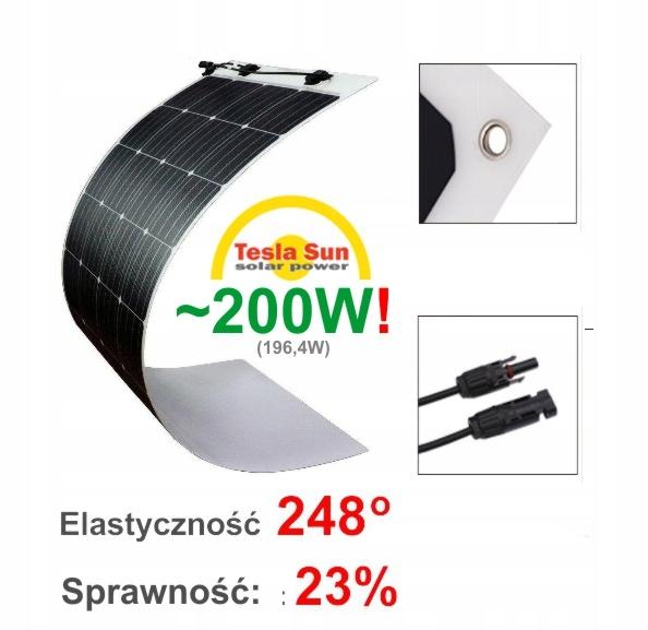 ~200W!! Elastyczny Panel Słoneczny Fotowoltaiczny