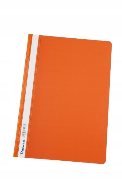 Skoroszyt DATURA A4 (10) twardy pomarańczowy