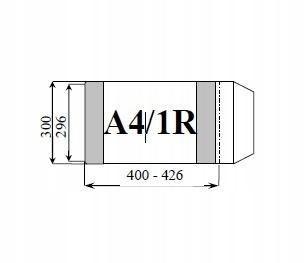 Okładka książkowa regulowana A4/1R (25szt) D&D