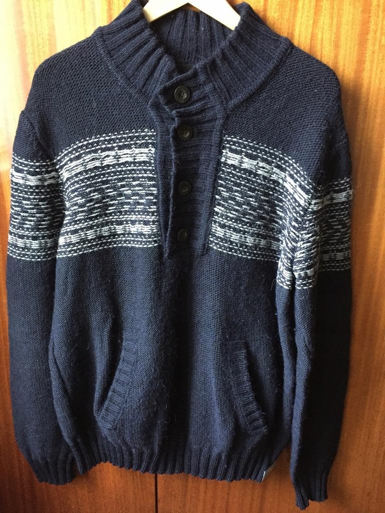 Męski granatowy sweter Calvin Klein - stan idealny