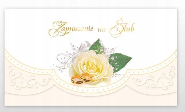 zaproszenia na ślub uroczystość ślubna