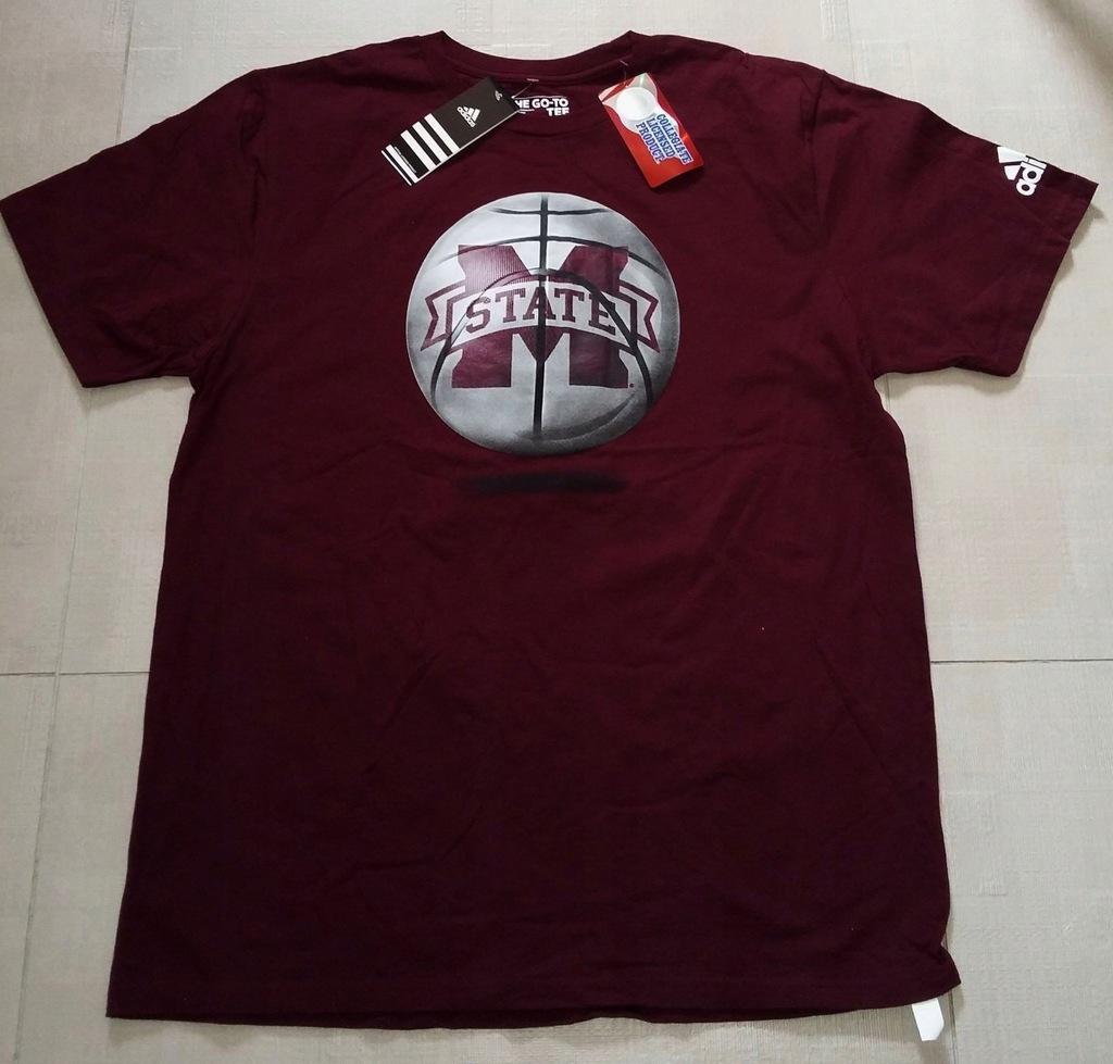 T-shirt Adidas NCAA Mississippi University z USA L