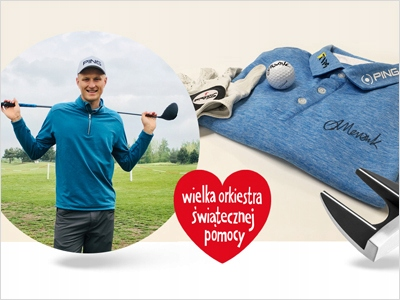 Lekcja golfa z A. Meronkiem + akcesoria golfowe