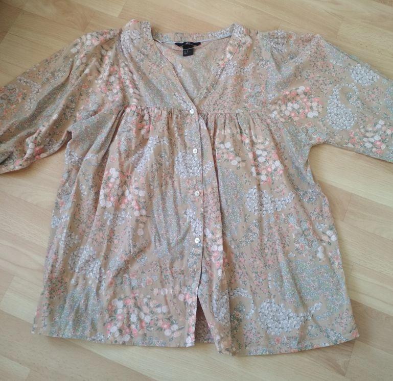 Bluzka bawełna 100% kwiaty 46 H&M