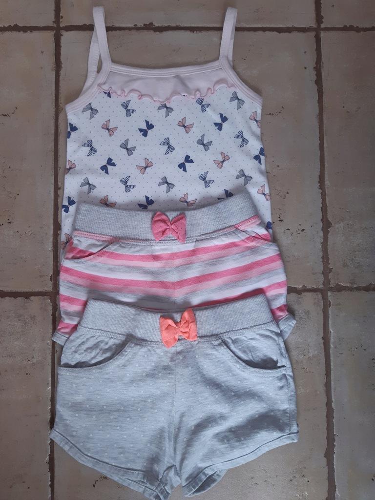 Ubrania dla dziewczynki ŚLICZNE spodenki i bluzki