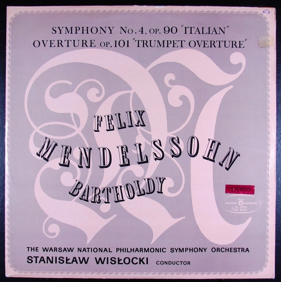 FELIX MENDELSSOHN-BARTHOLDY - Symfonia Włoska