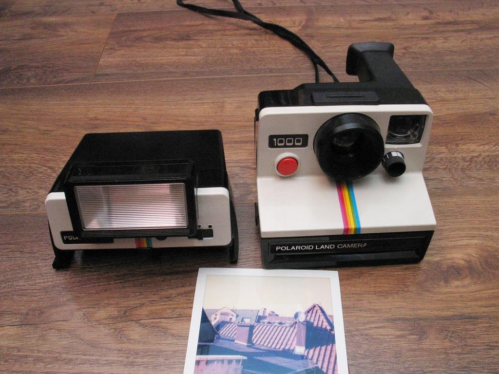 Aparat Polaroid SX-70 + Lampa błyskowa GWARANCJA