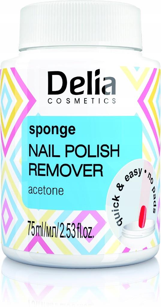 Delia zmywacz do paznokci z gąbką acetonowy 75ml