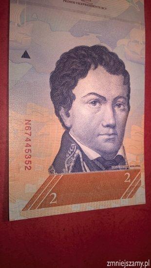 Wenezuela - 2 Bolivares w stanie bankowym dla WOŚP