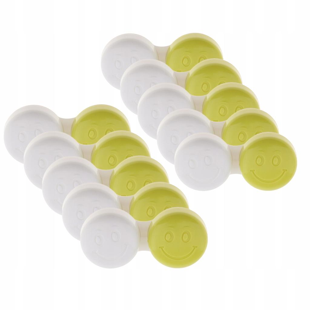 10 sztuk Etui na soczewki kontaktowe - Zielony