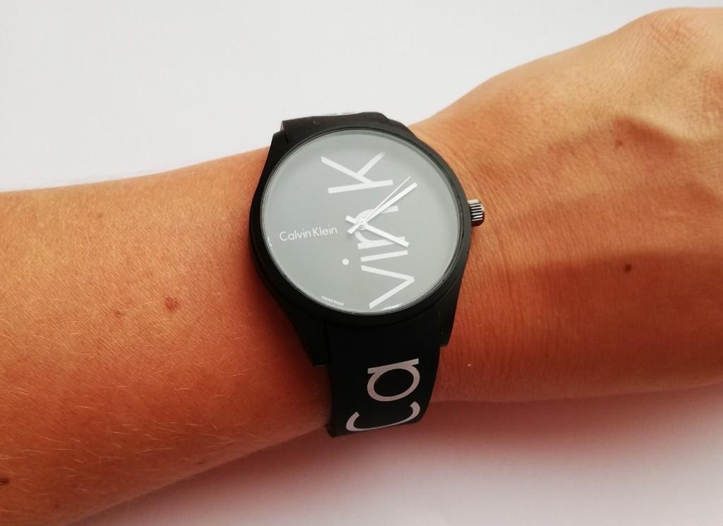 CK Zegarek pasek silikonowy