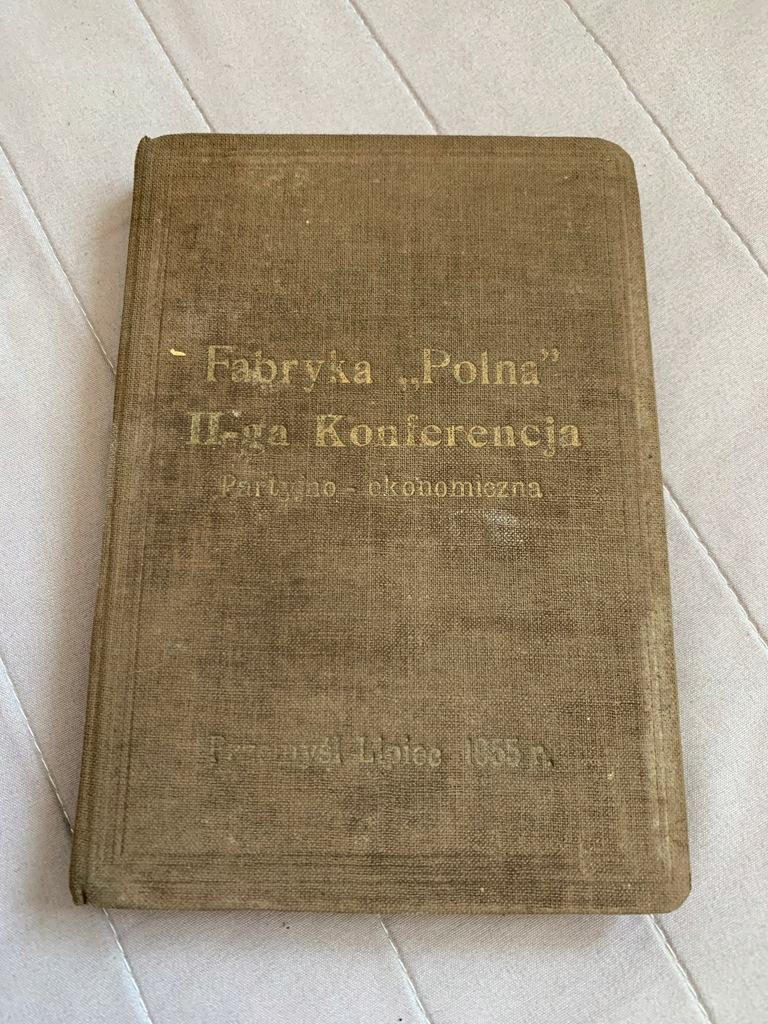 PRZEMYŚL FABRYKA POLNA 1955 NOTES II KONFERENCJA