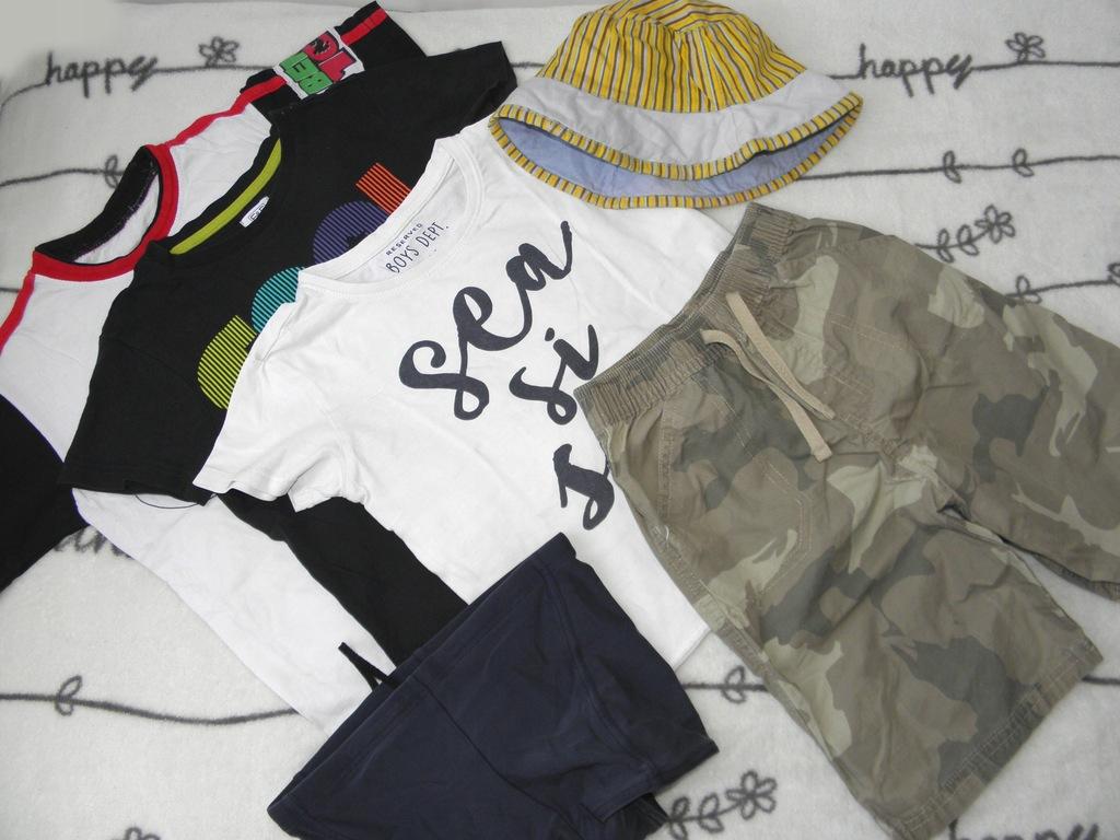 ZESTAW 6szt SPODENKI, t-shirty CHEROKEE 110-116