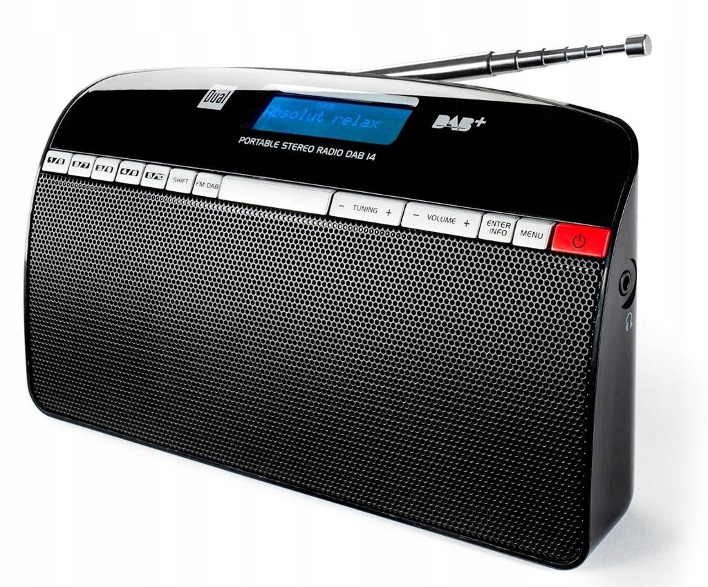 CZARNE RADIO CYFROWE DUAL DAB 14 FM DAB+ LCD