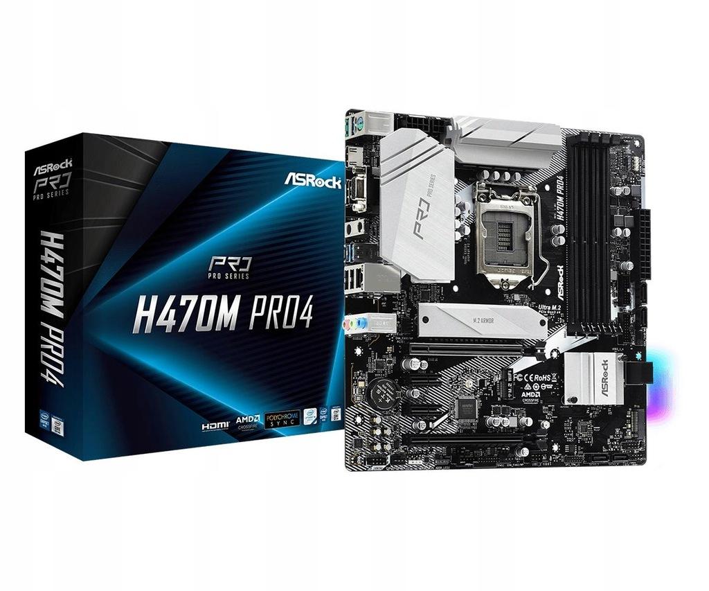 Płyta główna ASRock H470M PRO4 Intel ATX DDR4