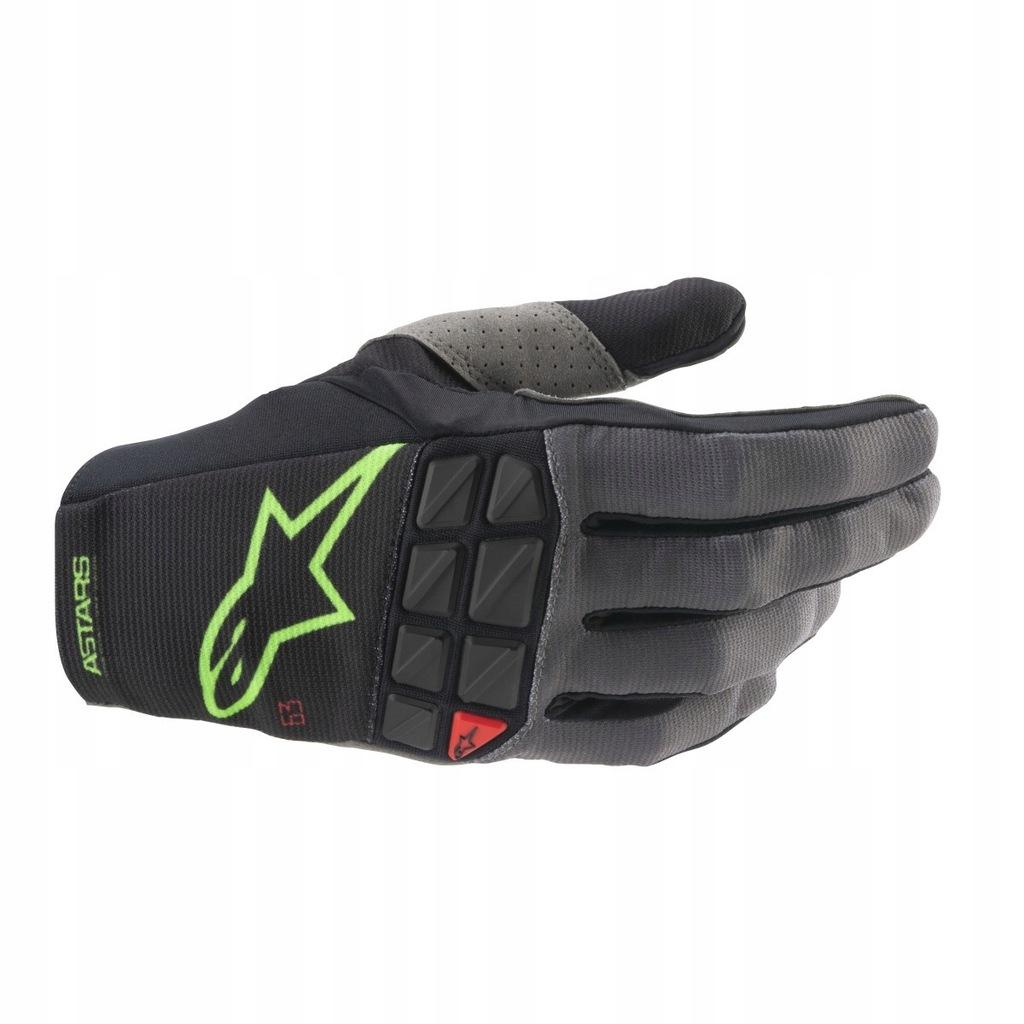 Rękawice Alpinestars Racefend black/green XL