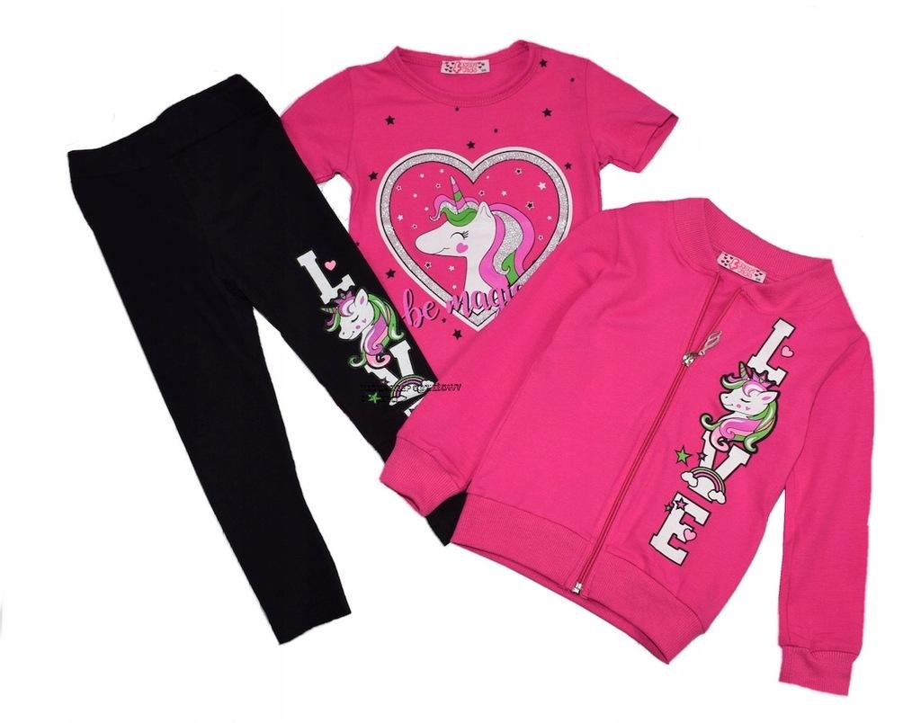 Komplet bluza t-shirt getry my Pony różowy 110