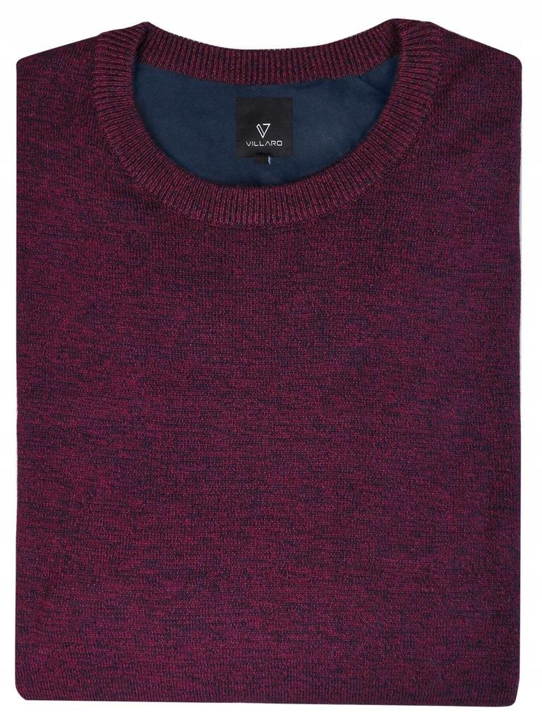 Burgundowy-bordowy sweter męski SW35 M Bawełna