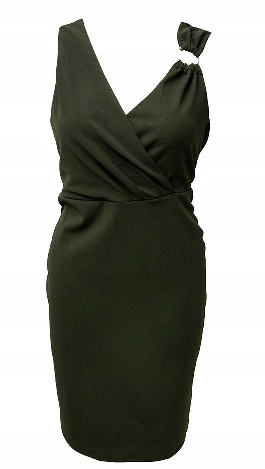 DOROTHY PERKINS piękna sukienka ołówkowa khaki 46