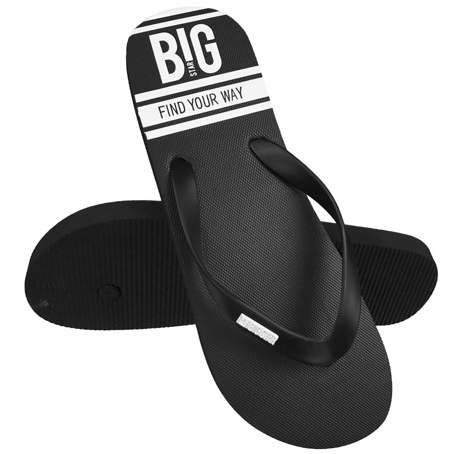 Klapki Big Star męskie czarne japonki AA174419 40