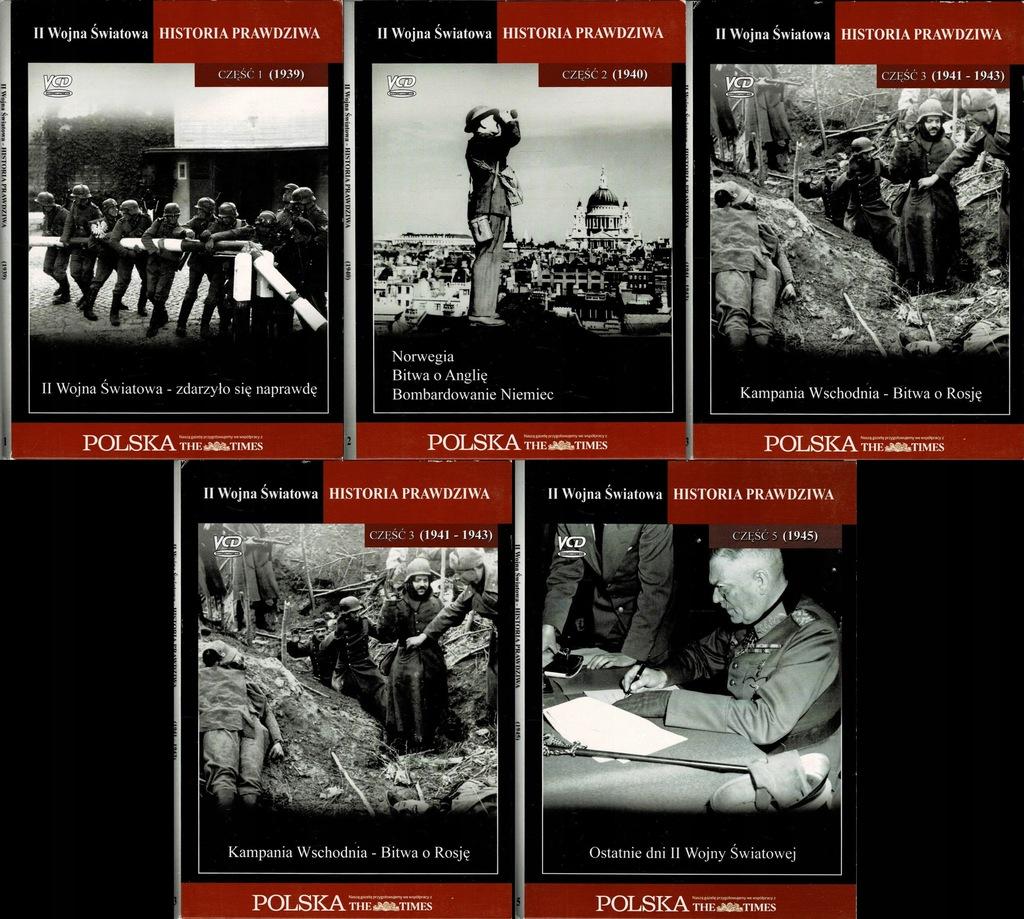 II Wojna Światowa Historia prawdziwa 5 płyt VCD
