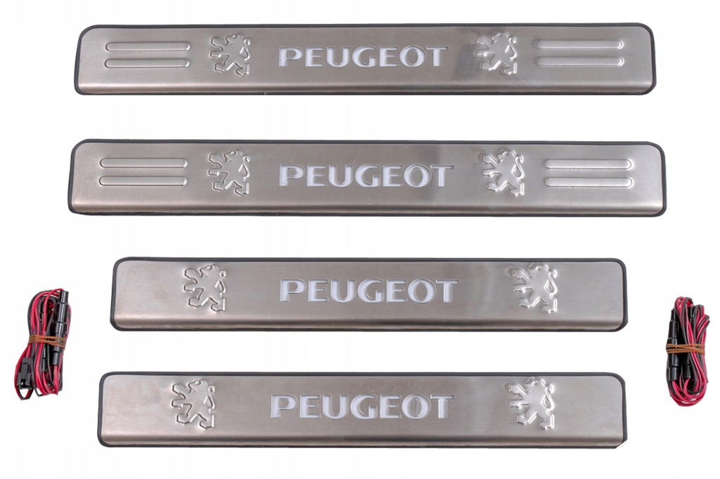 PEUGEOT 408 LISTWY PROGOWE LED 2010-2015