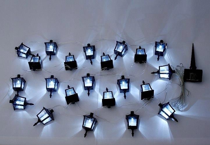 Lampki solarne w kształcie latarni 24 sztuki