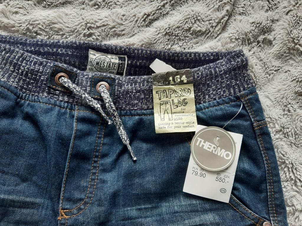 Spodnie jeansowe ocieplane
