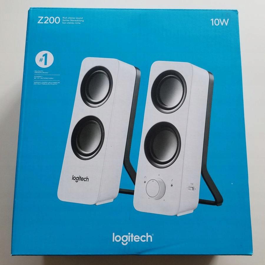 Logitech Z200 NOWE Białe Gwar Paragon - 50% ceny