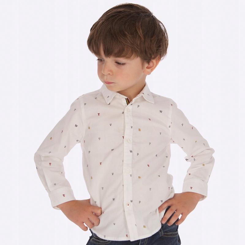 Koszula we wzory dla chłopca Mayoral 4123 rozm.110