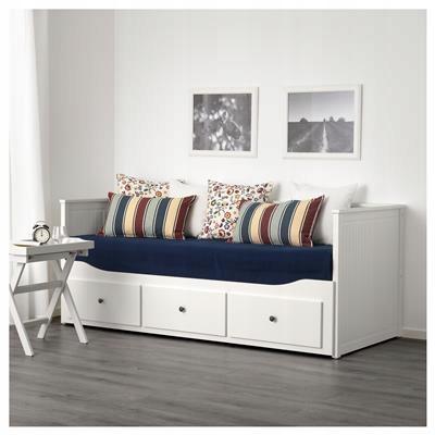 IKEA HEMNES Łóżko dzienne z 3 szufladami biały