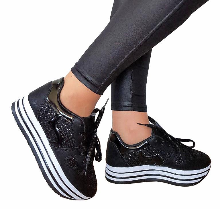 Czarne Trampki Adidasy Sneakersy Na Platformie 36 7380338697 Oficjalne Archiwum Allegro