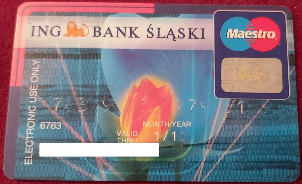 Karta Maestro ING Bank ŚLĄSKI