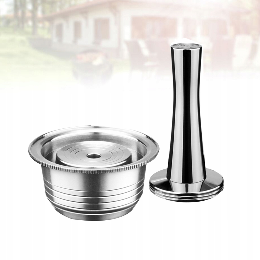 1 Set of 2pcs Stainless Steel Coffee Capsule Shell