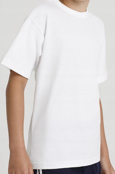Podkoszulka dziecięca T-shirt biała W-F roz. 152