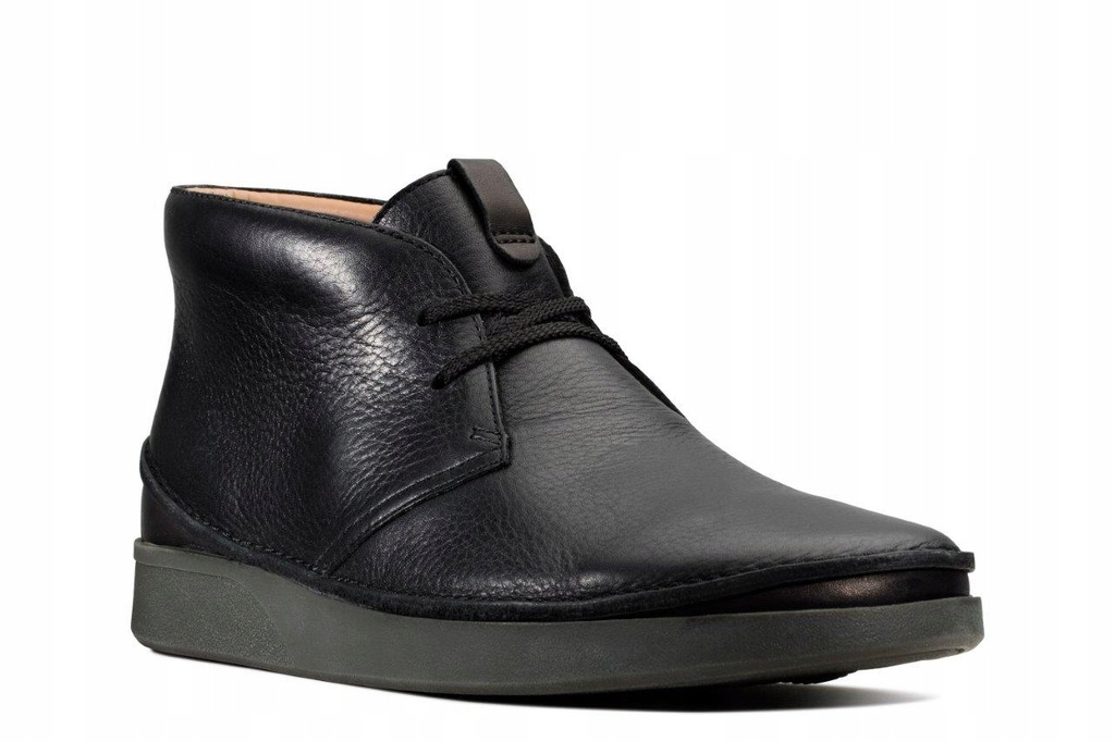 TRZEWIKI CLARKS OAKLAND RISE Black Leather 42