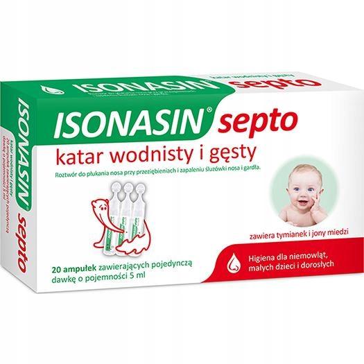 Isonasin Septo katar u dzieci higiena nosa 20x 5ml